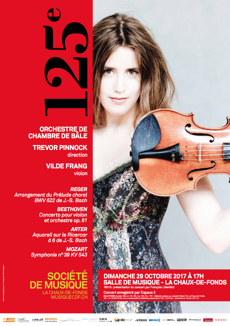 Du 23 octobre 2017 au 4 mai 2018, la Société de Musique de La Chaux-de-Fonds fête son 125e anniversaire: une formidable aventure musicale et humaine menée depuis 125 ans, un exploit !