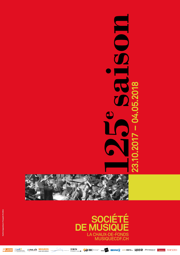Die deutsche Version auch ! Du 23 octobre 2017 au 4 mai 2018, la Société de Musique de La Chaux-de-Fonds fête son 125e anniversaire: une formidable aventure musicale et humaine menée depuis 125 ans, un exploit !